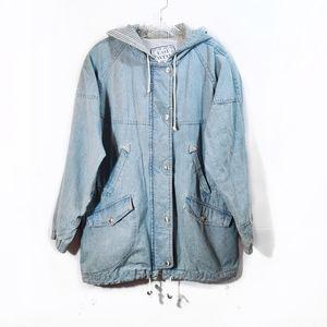 Vintage East West Denim Anorak Jacket Full Zip S